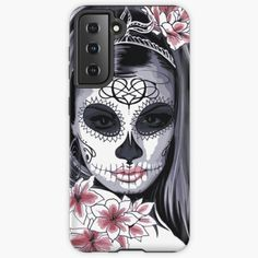 #mademesmiledesign #mademesmile #blackandwhite #findyourthing #redbubble #redbubblephonecase #iponecase #phonecase #phonecasedesign #iphonesoftcase #snapcase #toughphonecase #toughcase #walletcase #walletcover #walletphonecase #samsungphone Galaxy Makeup, Skull Painting, Skull Mask, Carnival Masks, Cool Phone Cases, Design Case, Day Of The Dead, Sugar Skull, Les Oeuvres
