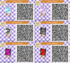 Animal Crossing QR Codes by Cloudy Scales path design Set#2 of 3