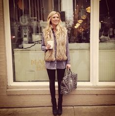 fur vest's are perfect! Never thought I would like this look but love it!