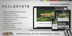 Download and review of WP Pro Real Estate 5 Responsive WordPress Theme, one of the best Themeforest Real Estate themes