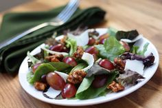grape and candied walnut salad.