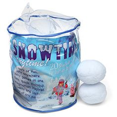 If you live in a place that doesn't get much snow, no worries.just order this bag of fake snowballs and have a snowball fight inside your house! Fake Snowballs, Indoor Snowballs, Half Christmas, Christmas Holidays, Christmas Crafts, Christmas Party Games, Outdoor Christmas Decorations, Holiday Fun, Holiday Ideas