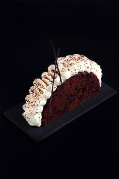"Entremet ""Black Forest."" Chocolate sponge cake ""Pain de Gênes,"" chocolate…"