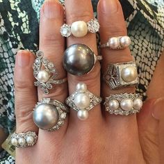 Feels like a Pearl Day to me!!! Are Pearls your Style? #pearl #seapearlsunday #seapearl #showmeyourrings