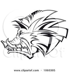 Royalty-Free (RF) Boar Logo Clipart, Illustrations, Vector Graphics #1