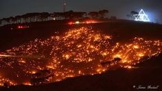 """""""Sending love and prayers to Cape Town for the fires to cease. Please add your energy to help. Signal Hill, Cape Town, Night Time, Paris Skyline, Natural Beauty, Fire, World, Amazing, Nature"""