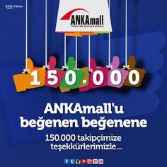 #ANKAmall'u beğenen beğenene! Tüm takipçilerimize teşekkür ediyoruz.