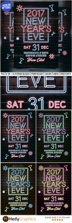 New Years Eve — Photoshop PSD #glow #new year flyer • Download ➝ https://graphicriver.net/item/new-years-eve/19052812?ref=pxcr