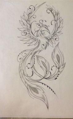 Result for images for Feminine Phoenix Tattoo Designs diy tattoo images - tattoo images drawings - t Kunst Tattoos, Bild Tattoos, Body Art Tattoos, Small Tattoos, Sleeve Tattoos, Ear Tattoos, Tatoos, Celtic Tattoos, Tattoo Symbols