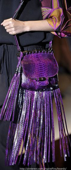 Gucci - Dazzling Purple bag. The colors are perfect but the fringe is a bit too much.