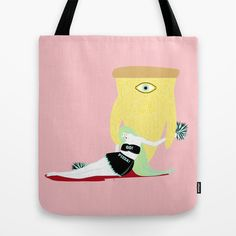 cheese pizza Tote Bag by Alba Blázquez - $22.00