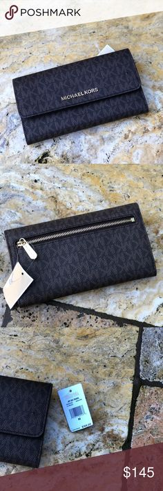6880c2a2ffa5 Nwt Michael Kors Signature trifold wallet 💯authentic Brand new with tags Michael  Kors Bags Wallets