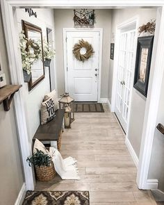Who else has a tiny entryway? I have a thing for big vaulted entryways (swipe to. Who else has a tiny entryway? I have a thing for big vaulted entryways (swipe to see the last house we custom built, yes. Farmhouse Homes, Modern Farmhouse, Farmhouse Style, Ship Lap Walls, Entryway Decor, Open Entryway, Entrance Hall Decor, Entryway Wall Decor, Cozy House