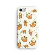 Sloths everywhere watercolor Phone cases for: iPhone 5 iPhone 5S iPhone SE iPhone 6 iPhone 6S iPhone 6 PLUS iPhone 6S PLUS iPhone 7 iPhone 7 PLUS Samsung Galaxy S7
