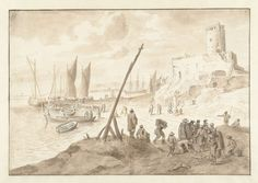 Herman Saftleven | Strandgezicht, Herman Saftleven, 1619 - 1685 |