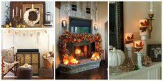 27 festive fall mantel decorating ideas from House Beautiful.