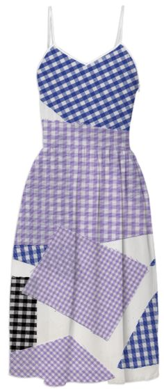 broken gingham in Violet Blue Black from Print All Over Me