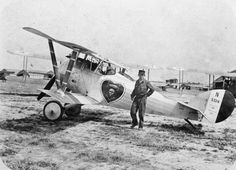 French ace Lieutenant Charles Nungesser's Nieuport 24, bearing his personal insignia.  Designed to replace the Nieuport 17, it entered service in mid 1917, but was not much faster, and had generally been replaced by the SPAD VII by early 1918 - though Nungesser amongst others preferred the Nieuport design.  It saw wide use as an advanced trainer.