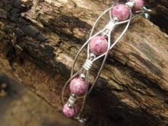 Beautiful Pink wire wrapped bracelet. by gay