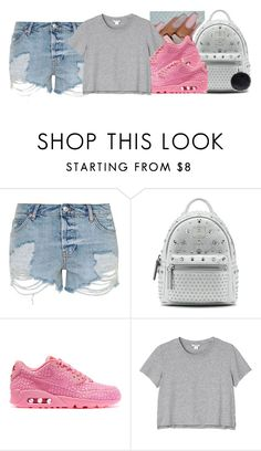 """""""a savagee production"""" by ajsavagee ❤ liked on Polyvore featuring Topshop, MCM, NIKE and Monki"""