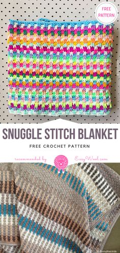 Snuggle Stitch Blanket Free Crochet Pattern | EASYWOOL