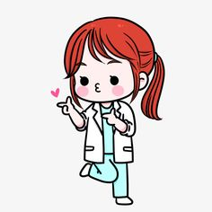 Girly Drawings, Cute Kawaii Drawings, Disney Drawings, Cartoon Drawings, Easy Drawings, Cartoon Art, Dentist Clipart, Dentist Cartoon, Nurse Drawing