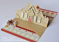 Karen Burniston's December Designer Challenge 'Home for the Holidays' Gingerbread House Stand Up Card