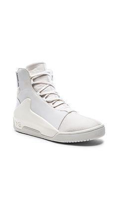 adidas® Y-3 Yohji Yamamoto Qasa High White [shoe details on feet