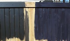Exterior Paint & Stain At Menards, Wood Cedar Fence Panels Peiranos Fences : Benefits Cedar Fence, Fence Colour Dear Black Garden Fence, Garden Fence Paint, Black Fence, Fence Art, Staining Wood Fence, Fence Stain, Exterior Stain, Black Exterior, Sherwin Williams Stain