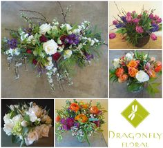 February Delivery Arrangements - www.DragonflyFloral.com - #deliveryarrangements #naturalflowers #dragonflyfloral #specialoccasionflowers