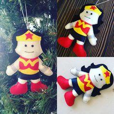 Wonder-Woman Felt Ornament by HebCrafts on Etsy