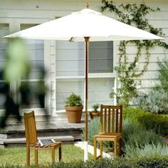 This 7.5' Market Umbrella is made of high grade Asian hardwood and Commercial Grade, 8oz, 600 thread count Poly with 3M Scotchguard protection fabric. Quality and style for $104.00 only.  Product ID : JM-4109-7.5 #PatioUmbrella