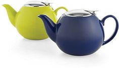solid color teapots | Certified International Teapot, Solid Color 17 oz with Stainless Steel ...