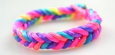 How to Make Easy Rainbow String Bracelet Quickly in Five Minutes