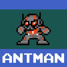 #antman #nintendo #8bit #megaman #marvel #comics #mashup byme! #pixel art #retrogaming #funny @chrisfox_85