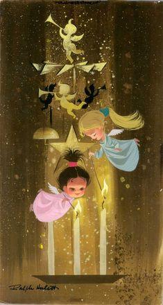 adorabliciousness!   Ralph Hulett via animationguildblog.blogspot.com  © by the Estate Of Ralph Hulett
