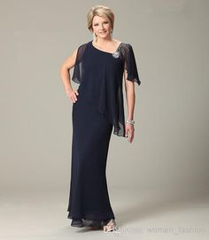 Discount Women's Fashion Chiffon Dress Mother of The Bride Dress Short Sleeve 20015 Wedding Party Dress Ankle Length Prom Gowns Plus Size Dress N70 Online with $103.67/Piece   DHgate