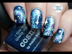 DIY Nebula Nail Art DIY Nails Art