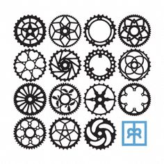 Gear Tattoo on gear cog clip art