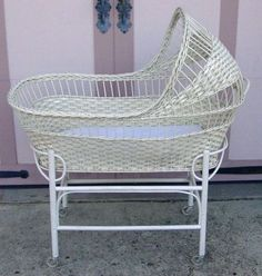 "A bassinet, bassinette, or cradle is a bed specifically for babies from birth to about four months, and small enough to provide a ""cocoon"" that small babies find comforting."