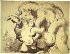 sandyb77reblogged storyoftheviper Picasso: Minotauro y desnudo, 1933 Source:tambienaqui