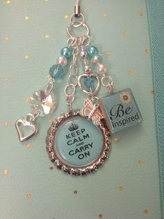 Keep Calm Inspirational Charm by FiloLove on Etsy, $14.00