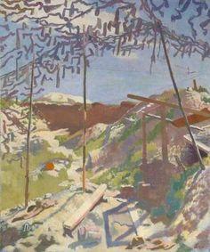 William Newenham Montague Orpen - A German Gunners Shelter, Warlencourt Irish Painters, Ww1 Art, Research Images, Irish Art, English Artists, Vintage Artwork, Art Uk, Your Paintings, Landscape Art