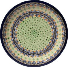 """Polish Pottery Dinner Plate 11"""" by Zaklady Ceramiczne """"Boleslawiec"""". $40.50. Origin: Boleslawiec, Poland. Each piece of Polish Stoneware is handmade and hand-painted.. Use&Care: Polish Pottery is oven- dishwasher- stove- and microwave oven safe, lead and cadmium free, resistant to chip.. Dimensions: Diameter: 10.70"""". The beautiful Polish Pottery Dinner Plate, in the Unikat Signature Patterns, will be an excellent addition to your dinner table. It will also look beauti..."""