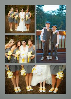 Gray and Yellow Wedding at Vecoma!  Great shoes!  www.vecoma1.com
