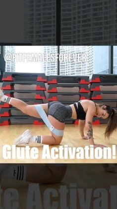 Glute Activation - Hazel N. Gym Workout Videos, Ab Workout At Home, Butt Workout, Gym Workouts, At Home Workouts, Band Workouts, Band Exercises, Fitness Herausforderungen, Fitness Workout For Women