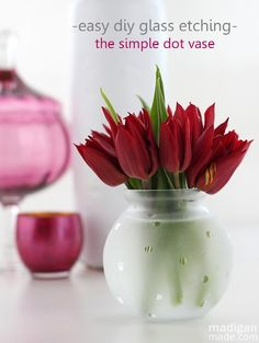 The Easiest Etched Vase: Just Add Dots! ~ Madigan Made { simple DIY ideas }