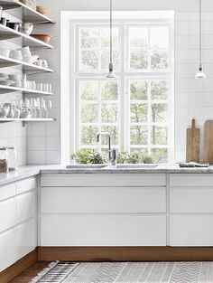 open shelves - kitchen