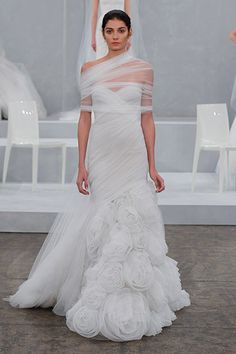 Gown by Monique Lhuillier #weddingdresses