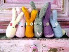 Such a cute array of rabbits! Ideal for Easter gifts, or, if you can't bear to part with them (not sure we could!) Easter decorations!